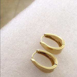Plain Gold Hoops